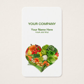 Fruits and Vegetables Heart Business Business Card