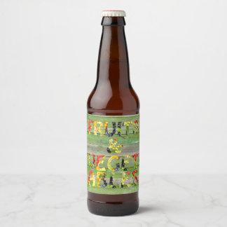 Fruits and Vegetables Love Beer Bottle Label