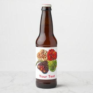 Fruits and Vegetables Love Cloverleaf Lucky Charm Beer Bottle Label