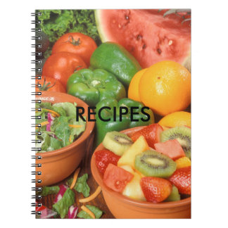 Fruits and Vegetables Recipes Notebook