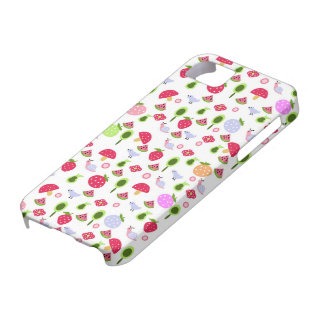 fruits, birds and snails iPhone 5 covers