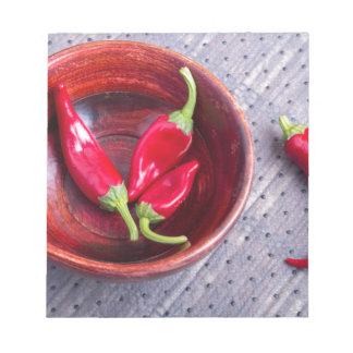 Fruits chilli hot red pepper notepads