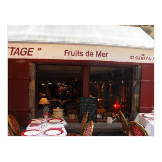 Fruits de Mer seafood restaurant France Postcard