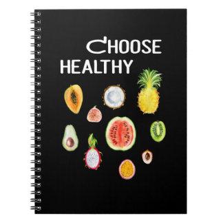 Fruits Food: Choose Healthy Vegan, Vegetarian Spiral Notebook