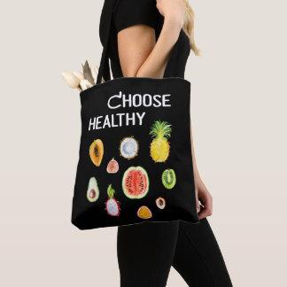 Fruits Food: Choose Healthy Vegan, Vegetarian Tote Bag