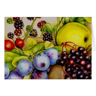 Fruits from the Hedgerow fine art everyday card