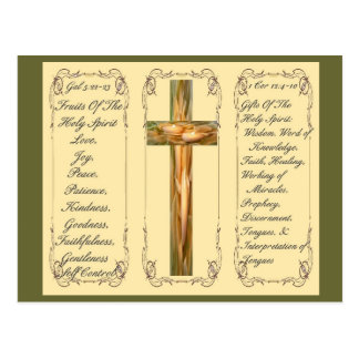 Fruits & Gifts Of The Holy Spirit Post Card