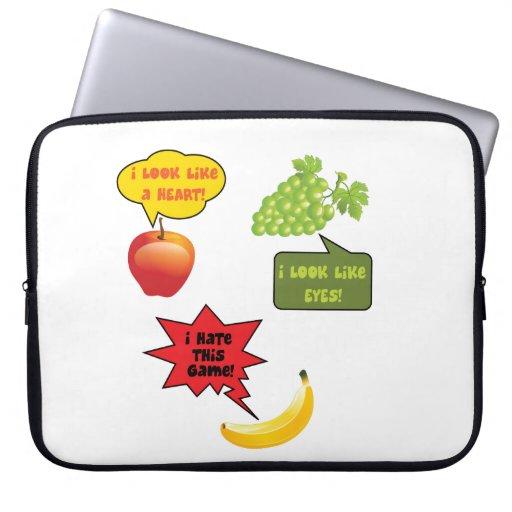 Fruits joke, banana rage laptop computer sleeves