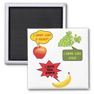 Fruits joke, banana rage magnets