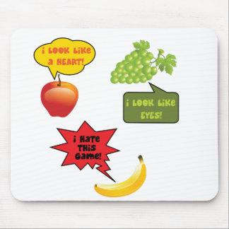 Fruits joke, banana rage mouse pad