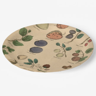 Fruits & Leaves 9 Inch Paper Plate