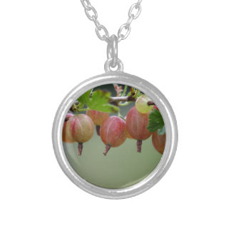 Fruits of a gooseberry silver plated necklace