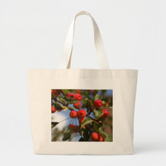 Fruits of a wild apple tree large tote bag
