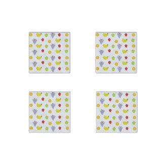 Fruits Pattern Stone Magnet
