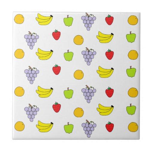 Fruits Pattern Ceramic Tiles