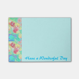 Fruits Post-it® Notes 4 x Have a wonderful day
