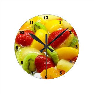 Fruits Round Clock
