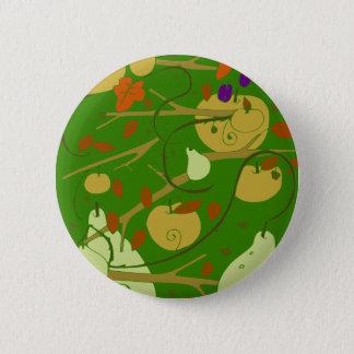 fruits stencil 6 cm round badge