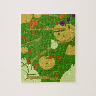 fruits stencil puzzles