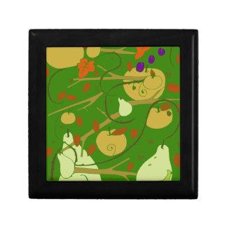 fruits stencil small square gift box