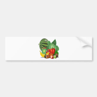 fruits vegetables artichoke banana bumper sticker