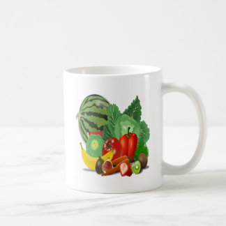 fruits vegetables artichoke banana coffee mug
