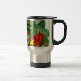 fruits vegetables artichoke banana travel mug
