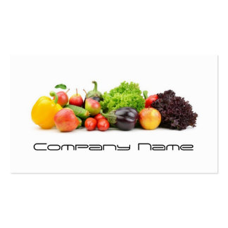 Fruits Vegetables / Healthy Life / Vegetarian Card Pack Of Standard Business Cards