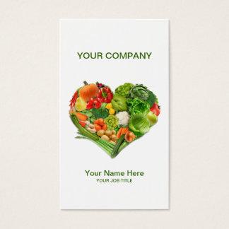 Fruits Vegetables Heart Business Business Card