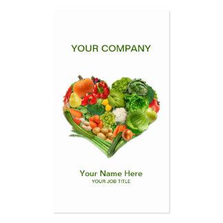 Fruits Vegetables Heart Business Pack Of Standard Business Cards