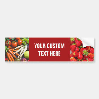 Fruits & Veggies (or YOUR photos) bumpersticker Bumper Sticker