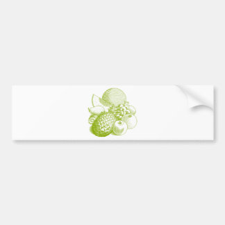 Fruits vintage food healthy retro bumper sticker