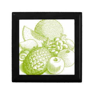 Fruits vintage food healthy retro gift box