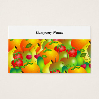 Fruity Background Business Card