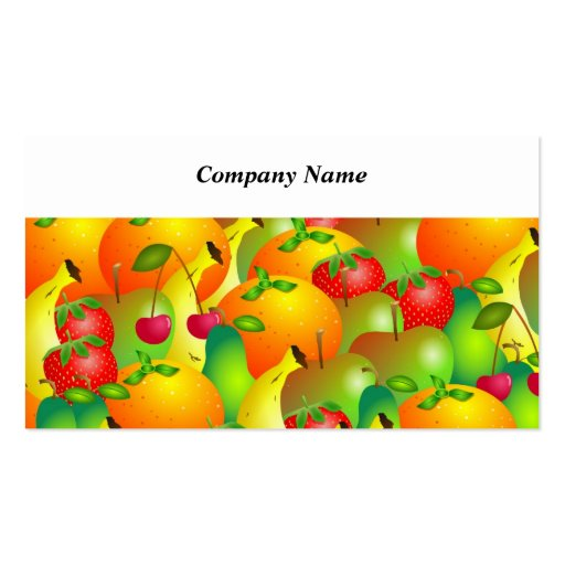 Fruity Background Business Card Template
