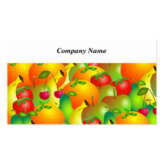 Fruity Background Pack Of Standard Business Cards