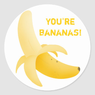Fruity banana stickers
