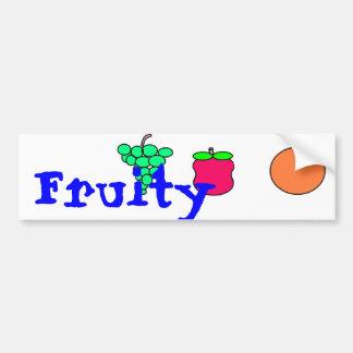 Fruity Car Bumper Sticker
