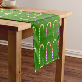 Fruity Candy Cane Holidays Pattern Table Runner