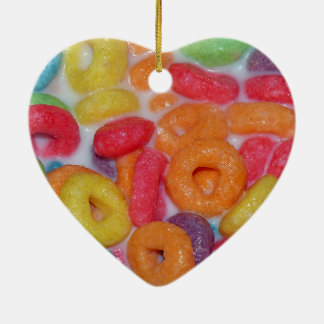 Fruity Cereal Ceramic Heart Decoration