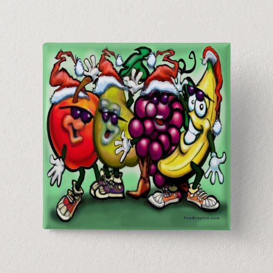 Fruity Christmas 15 Cm Square Badge