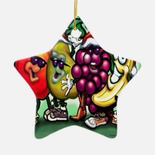 Fruity Christmas Ceramic Ornament