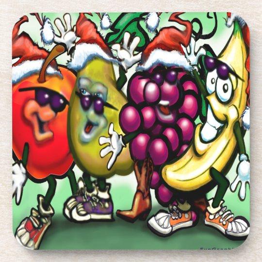 Fruity Christmas Coaster