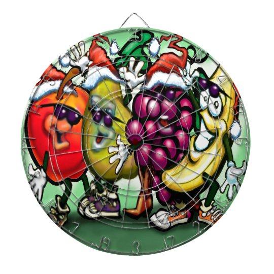 Fruity Christmas Dartboard