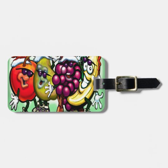 Fruity Christmas Luggage Tag