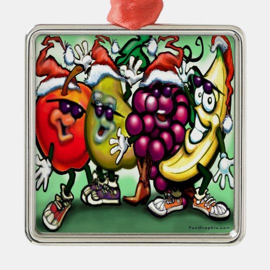 Fruity Christmas Metal Ornament