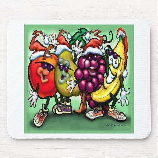 Fruity Christmas Mouse Pad