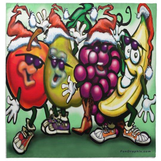 Fruity Christmas Napkin