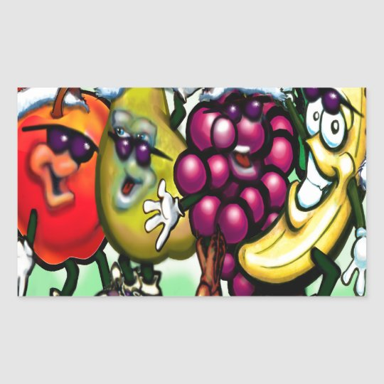 Fruity Christmas Rectangular Sticker