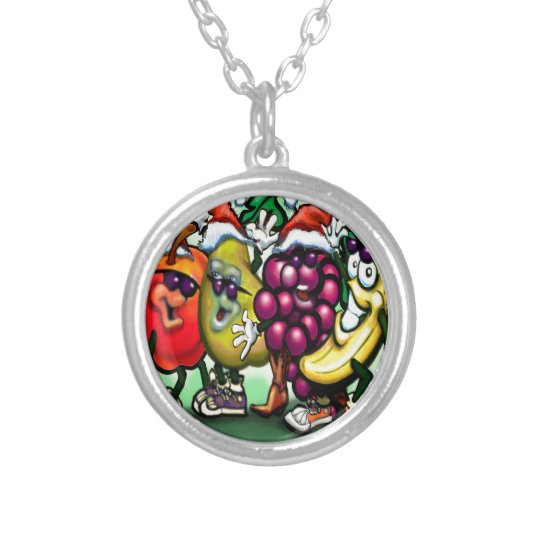 Fruity Christmas Silver Plated Necklace